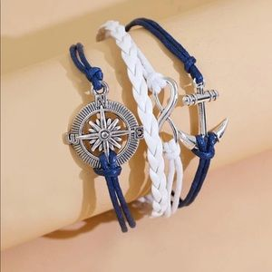 3/$20 Nautical 4-in-1 Stacked Charm Bracelet